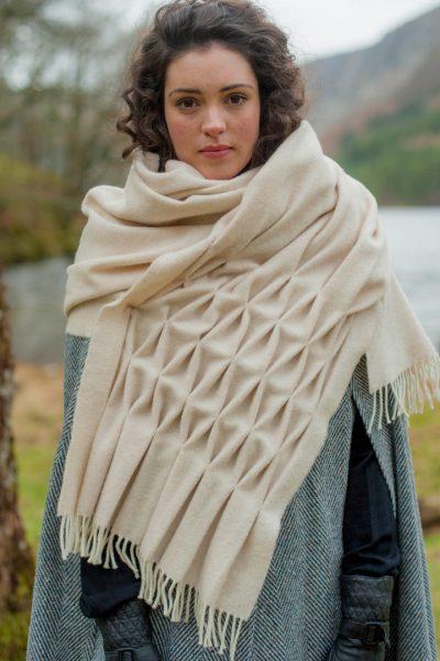 pashmina wool handmade scarf
