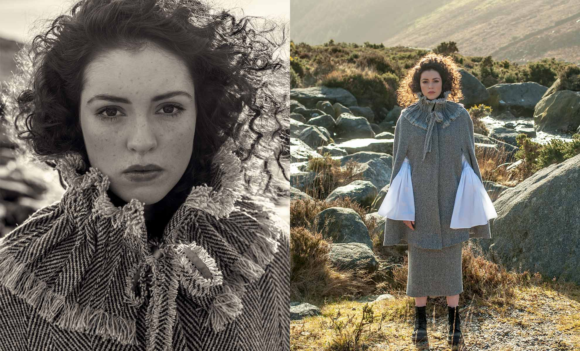 Irish Tweed fashion Collection shot on location in Ireland